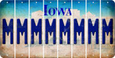 Iowa M Cut License Plate Strips (Set of 8) LPS-IA1-013