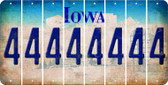 Iowa 4 Cut License Plate Strips (Set of 8) LPS-IA1-031