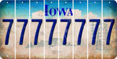 Iowa 7 Cut License Plate Strips (Set of 8) LPS-IA1-034