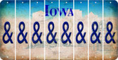 Iowa AMPERSAND Cut License Plate Strips (Set of 8) LPS-IA1-049
