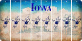 Iowa BOWLING Cut License Plate Strips (Set of 8) LPS-IA1-059