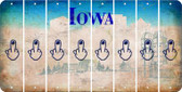 Iowa MIDDLE FINGER Cut License Plate Strips (Set of 8) LPS-IA1-091