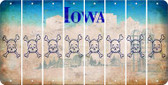 Iowa SKULL Cut License Plate Strips (Set of 8) LPS-IA1-092