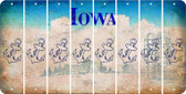 Iowa ANCHOR Cut License Plate Strips (Set of 8) LPS-IA1-093