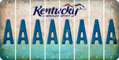 Kentucky A Cut License Plate Strips (Set of 8) LPS-KY1-001