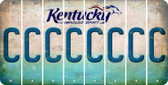 Kentucky C Cut License Plate Strips (Set of 8) LPS-KY1-003