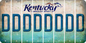 Kentucky D Cut License Plate Strips (Set of 8) LPS-KY1-004