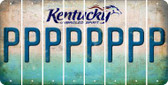Kentucky P Cut License Plate Strips (Set of 8) LPS-KY1-016