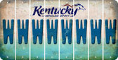 Kentucky W Cut License Plate Strips (Set of 8) LPS-KY1-023