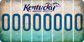 Kentucky 0 Cut License Plate Strips (Set of 8) LPS-KY1-027