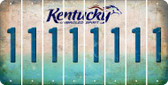 Kentucky 1 Cut License Plate Strips (Set of 8) LPS-KY1-028