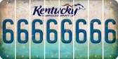 Kentucky 6 Cut License Plate Strips (Set of 8) LPS-KY1-033