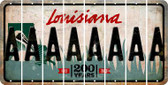 Louisiana A Cut License Plate Strips (Set of 8) LPS-LA1-001