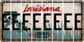 Louisiana E Cut License Plate Strips (Set of 8) LPS-LA1-005