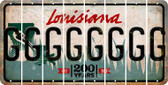 Louisiana G Cut License Plate Strips (Set of 8) LPS-LA1-007
