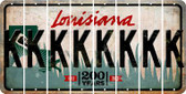 Louisiana K Cut License Plate Strips (Set of 8) LPS-LA1-011