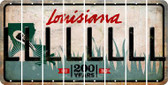 Louisiana L Cut License Plate Strips (Set of 8) LPS-LA1-012