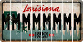 Louisiana M Cut License Plate Strips (Set of 8) LPS-LA1-013