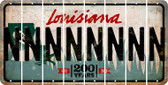 Louisiana N Cut License Plate Strips (Set of 8) LPS-LA1-014