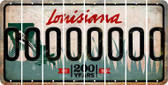 Louisiana O Cut License Plate Strips (Set of 8) LPS-LA1-015