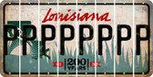Louisiana P Cut License Plate Strips (Set of 8) LPS-LA1-016
