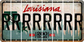 Louisiana R Cut License Plate Strips (Set of 8) LPS-LA1-018