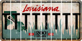 Louisiana T Cut License Plate Strips (Set of 8) LPS-LA1-020