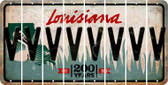 Louisiana V Cut License Plate Strips (Set of 8) LPS-LA1-022