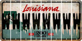 Louisiana W Cut License Plate Strips (Set of 8) LPS-LA1-023