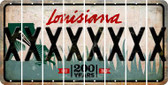 Louisiana X Cut License Plate Strips (Set of 8) LPS-LA1-024