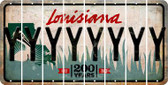 Louisiana Y Cut License Plate Strips (Set of 8) LPS-LA1-025