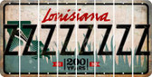 Louisiana Z Cut License Plate Strips (Set of 8) LPS-LA1-026