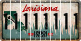 Louisiana 1 Cut License Plate Strips (Set of 8) LPS-LA1-028