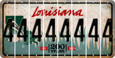 Louisiana 4 Cut License Plate Strips (Set of 8) LPS-LA1-031