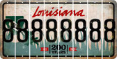 Louisiana 8 Cut License Plate Strips (Set of 8) LPS-LA1-035