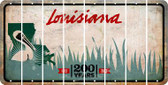 Louisiana BLANK Cut License Plate Strips (Set of 8) LPS-LA1-037