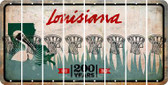 Louisiana BASKETBALL HOOP Cut License Plate Strips (Set of 8) LPS-LA1-058