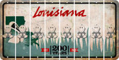 Louisiana BABY BOY Cut License Plate Strips (Set of 8) LPS-LA1-066
