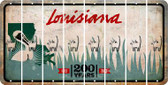Louisiana CAT Cut License Plate Strips (Set of 8) LPS-LA1-072