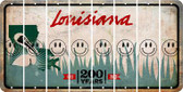 Louisiana SMILEY FACE Cut License Plate Strips (Set of 8) LPS-LA1-089