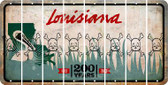 Louisiana SKULL Cut License Plate Strips (Set of 8) LPS-LA1-092