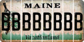 Maine B Cut License Plate Strips (Set of 8) LPS-ME1-002