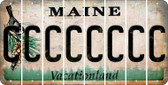 Maine C Cut License Plate Strips (Set of 8) LPS-ME1-003