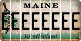 Maine E Cut License Plate Strips (Set of 8) LPS-ME1-005