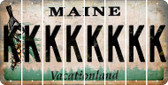 Maine K Cut License Plate Strips (Set of 8) LPS-ME1-011