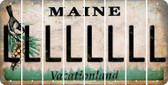 Maine L Cut License Plate Strips (Set of 8) LPS-ME1-012