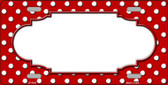 Red White Polka Dot Wholesale Metal Novelty License Plate