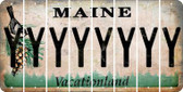 Maine Y Cut License Plate Strips (Set of 8) LPS-ME1-025