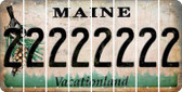 Maine 2 Cut License Plate Strips (Set of 8) LPS-ME1-029