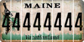 Maine 4 Cut License Plate Strips (Set of 8) LPS-ME1-031